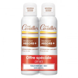 Rogé Cavaillès Absorb+ Déodorant Toucher Sec Spray Lot de 2 x 150 ml