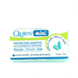QUIES MINI PROTECTION AUDITIVE MOUSSE 3 PAIRES