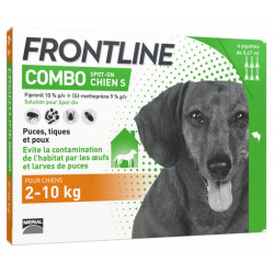 Frontline Combo Chien S (2-10 kg) 6 Pipettes