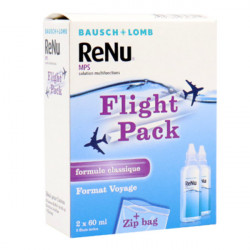 Bausch + Lomb ReNu MPS Solution Multifonctions Spécial Avion Lot de 2 x 60 ml