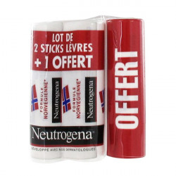 Neutrogena Stick Lèvres 4,8g, lot de 2 + 1 Offert