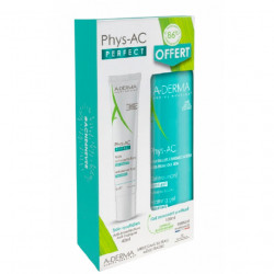 ADERMA PHYS-AC PERFECT FLUIDE ANTI-IMPERFECTIONS 40 ML + GEL MOUSSANT PURIFIANT 100 ML OFFERT